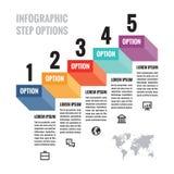Infographic bedrijfsconcept - stap genummerde opties voor presentatie, brochure, website en andere creatieve projecten vector illustratie