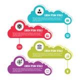 Infographic Bedrijfsconcept voor Presentatie met Wolken vector illustratie