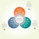 Infographic bedrijfsmalplaatje drie tekstgebieden stock illustratie