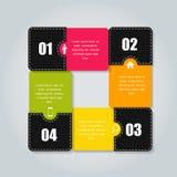 Infographic bedrijfsmalplaatje vectorillustratie Stock Fotografie