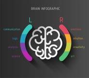 Infographic begrepp för hjärna Royaltyfri Foto