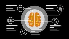 Infographic begrepp för hjärna lager videofilmer