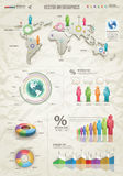 Infographic-Beige Stock Image