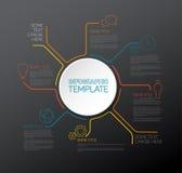 Infographic Berichtsschablone des Vektors Lizenzfreie Stockfotos