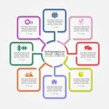 Infographic-Berichtsschablone mit Linien und Ikonen Lizenzfreie Stockbilder
