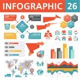 Infographic beståndsdelar 26 Arkivfoto