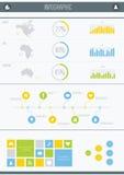 Infographic beståndsdelar Royaltyfria Bilder