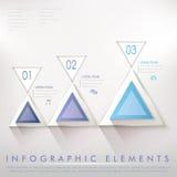 Infographic beståndsdelar för färgrikt modernt triangelabstrakt begrepp Royaltyfri Fotografi