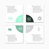 Infographic beståndsdelar för modernt vektorabstrakt begrepp Arkivbilder