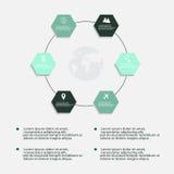 Infographic beståndsdelar för modernt vektorabstrakt begrepp Arkivbild