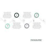 Infographic beståndsdelar för modernt vektorabstrakt begrepp Royaltyfri Fotografi