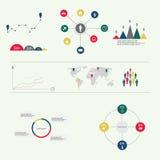 Infographic beståndsdelar för modernt vektorabstrakt begrepp Royaltyfri Bild