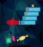 Infographic beståndsdelar för nytt år i plan stil Royaltyfri Fotografi