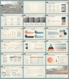 Infographic beståndsdelar för presentationsmallar Arkivbilder