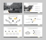 Infographic beståndsdelar för presentationsmallar Royaltyfri Foto
