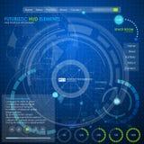 Infographic beståndsdelar för rengöringsdukui Royaltyfri Bild