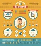 Infographic beståndsdelar för socialt massmedia Royaltyfria Foton