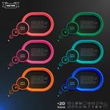 Infographic beståndsdelar för vektoranförandebubbla royaltyfri fotografi