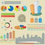 Infographic beståndsdelar Arkivbild