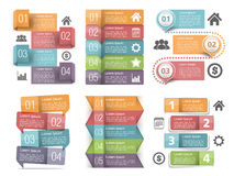 Infographic beståndsdelar med nummer arkivfoto