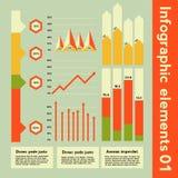 Infographic beståndsdelar med olik information Royaltyfri Foto