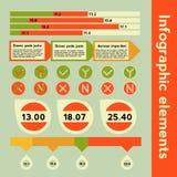 Infographic beståndsdelar med olik information Arkivbild