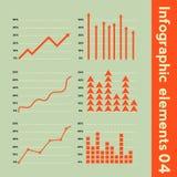Infographic beståndsdelar med olik information Arkivfoto