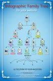 Infographic beståndsdeldiagram och diagramträd Royaltyfria Foton
