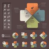 Infographic beståndsdelmall Royaltyfri Fotografi