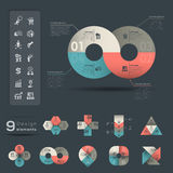 Infographic beståndsdelmall Arkivfoton