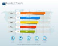 Infographic beståndsdelmall för utbildning för avläggande av examenbegrepp Arkivfoto