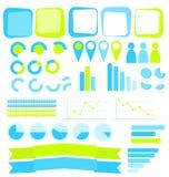 Infographics beståndsdelar Arkivbild