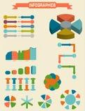 Infographic beståndsdeluppsättning också vektor för coreldrawillustration Royaltyfri Fotografi