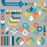 Infographic beståndsdeluppsättning. Vektor Arkivbild