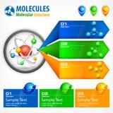 Infographic beståndsdelar för medicin Arkivfoton
