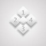 Infographic biały 3D Fotografia Royalty Free
