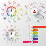 Infographic big set. Business design template. Vector Royalty Free Stock Photo