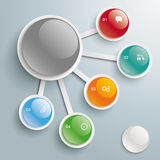 Infographic Big And 5 Small Buttons PiAd. Infographic design on the grey background. Eps 10 file stock illustration