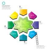 InfoGraphic biznes Fotografia Stock