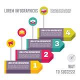 Infographic Biznesowy pojęcie Wektorowa ilustracja - krok opcje - royalty ilustracja