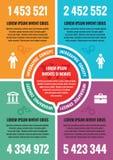 Infographic biznesowy pojęcie - wektorowy układu A4 format Wektorowy infographic szablon ilustracji