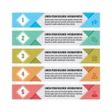 Infographic biznesowy pojęcie - barwioni horyzontalni wektorowi sztandary Infographic Szablon Infographics projekta elementy Zdjęcie Royalty Free