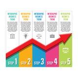 Infographic Biznesowy pojęcie - trendu wektor Illust Obrazy Royalty Free
