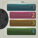 Infographic biznesowy projekt Zdjęcia Royalty Free
