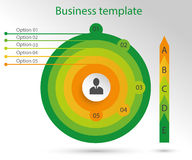 Infographic biznesu szablon Obrazy Stock