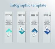 Infographic biznesu szablon Zdjęcia Royalty Free