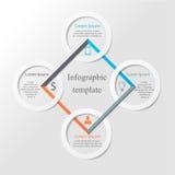 Infographic biznesu szablon Obrazy Royalty Free