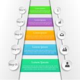 Infographic biznesu tło Zdjęcie Royalty Free