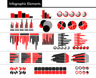 Infographic in black, red and gray color Royalty Free Stock Photo