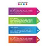 Infographic-Bleistift-Wahlschablone Stockfotografie